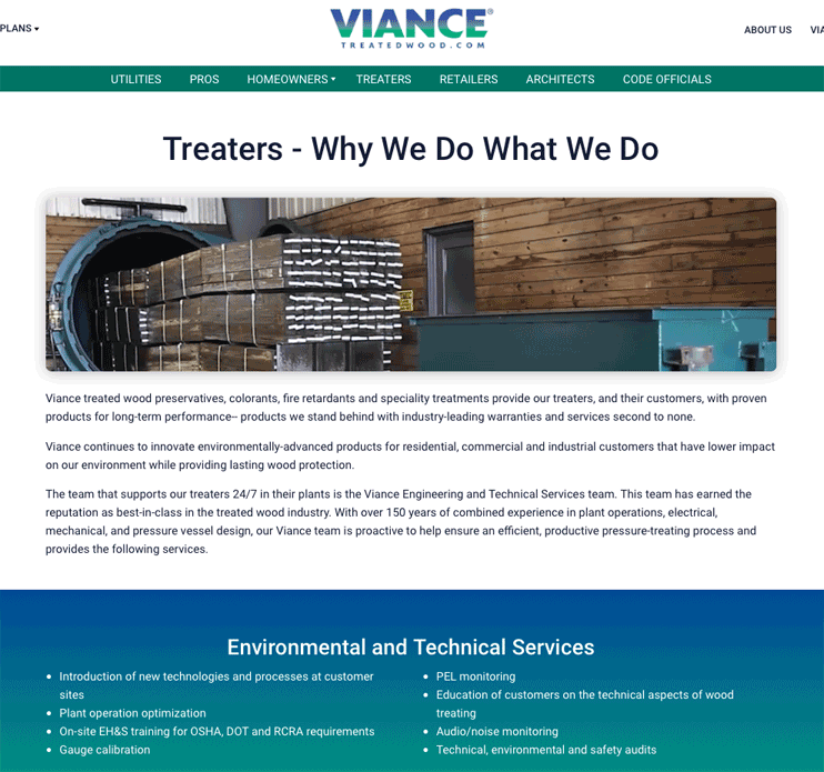 Website Treater Page