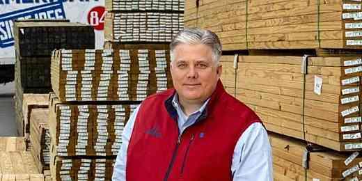 Treated Lumber Stack