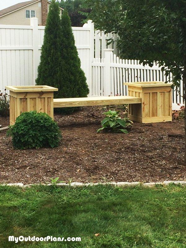 MOP Board and Batten Planter Bench